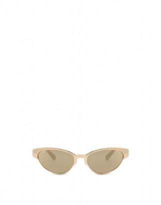 Moschino Cat-eye Metal Sunglasses Woman Gold Size Single Size