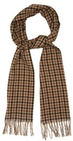 Gucci Checked Camel-hair Scarf