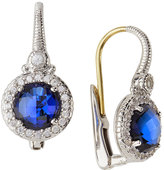 Judith Ripka Round Crystal & Sapphire Drop Earrings