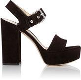 Gianvito Rossi Women's Gina Platform Sandals-DARK BROWN