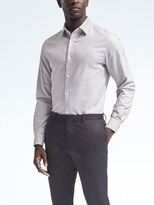 Grant-Fit Cotton Stretch Non-Iron Solid Shirt