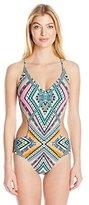 Jessica Simpson Women's Venice Beach Cutout One-Piece Swimsuit