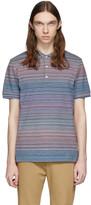 Missoni Blue and Multicolor Striped Polo