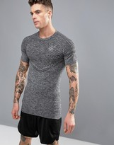 SikSilk Compression T-Shirt With Logo