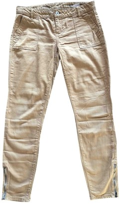 Tommy Hilfiger Beige Cloth Trousers for Women