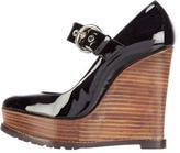 Barbara Bui Patent Leather Mary Jane Wedges