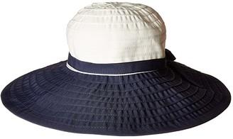 San Diego Hat Company RBL299OS Ribbon Bow Floppy (Navy/White) Caps