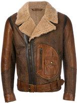 Belstaff shearling biker jacket