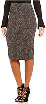 M.S.S.P. Pull-On Midi Sweater Pencil Skirt