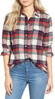 Madewell Women's Ex Boyfriend Plaid Flannel Shirt