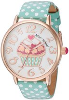 Betsey Johnson Women's Quartz Metal and Polyurethane Casual WatchMulti Color (Model: BJ00496-47)