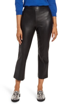 Halogen Crop Straight Leg Faux Leather Pants