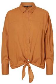 Vero Moda Helly Tie Front Shirt Meerkat - XS
