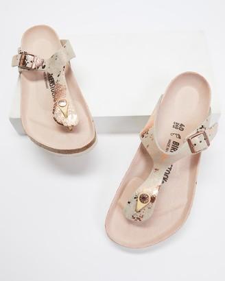 Birkenstock Women's Neutrals Flat Sandals - Gizeh Vintage Metallic - Women's - Size 36 at The Iconic