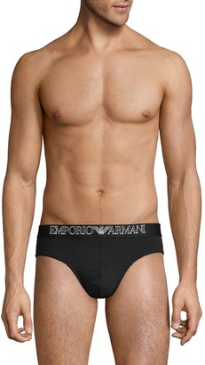 Emporio Armani Cotton-Blend Briefs