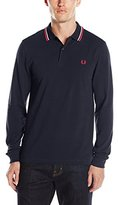 Fred Perry Men's Long Sleeve Tipped Slim Fit Pique Polo Shirt