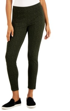 Style&Co. Style & Co Uptown Animal Printed Pull-On Pants, Created for Macy's