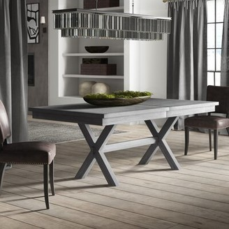 Gracie Oaks Sawyer Extendable Solid Wood Dining Table Gracie Oaks