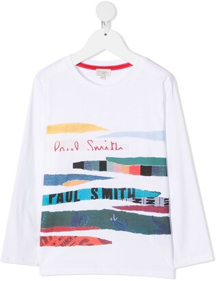 Paul Smith collage stripe print T-shirt