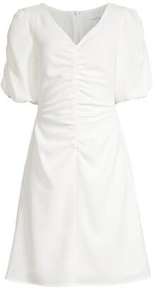 Black Halo Remus Oragami-Sleeve Print Sheath Dress