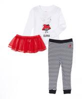 Intimo White Olivia Tutu Pajama Set - Infant Toddler & Girls