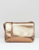 Asos Metallic Soft Leather Cross Body Bag