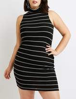 Charlotte Russe Plus Size Ribbed Mock Neck Bodycon Sweater Dress