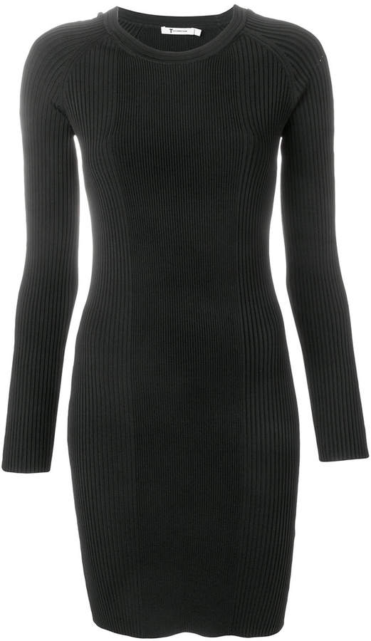 Alexander Wang ribbed laddered sleeve dress