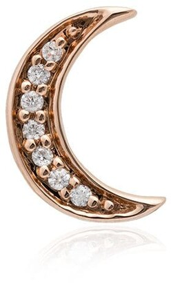 Andrea Fohrman 14K rose gold Crescent Moon diamond earring
