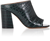 Givenchy Women's Paris Croc-Stamped Leather Mules