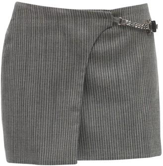 Alyx Wool Blend Mini Skirt W/ Chain