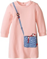 Little Marc Jacobs Long Sleeve Essential Jersey Modal Dress (Infant)