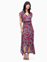 Splendid Etched Floral Wrap Dress