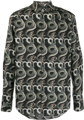 John Richmond snake print shirt