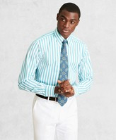 Brooks Brothers Golden Fleece Regent Fitted Dress Shirt, Button-Down Collar Multi-Stripe Poplin