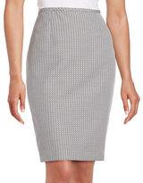 Calvin Klein Dotted Jacquard Pencil Skirt