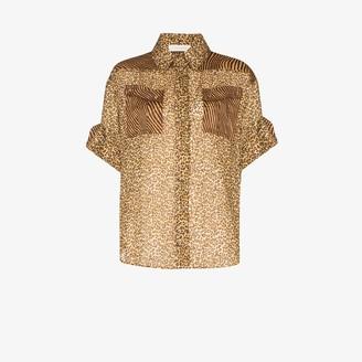 Zimmermann Leopard print shirt