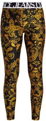 Versace Logo Baroque Leggings