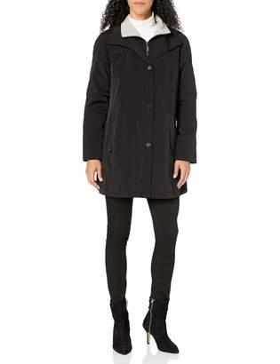 Fleet Street Ltd. Women's Rain Jacket with Button Out Faux Wool Liner