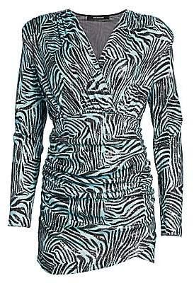 Andamane Women's Colette Zebra Print Mini Dress