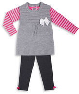 Little Lass Girls 2-6x Three-Piece Sweater, T-Shirt and Pants Set