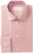 Eton Plaid Contemporary Fit Dress Shirt