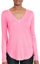 Lauren Ralph Lauren V-Neck Long-Sleeve Tee