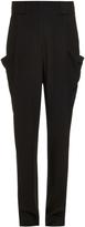 L'Agence High-waist lightweight twill trousers