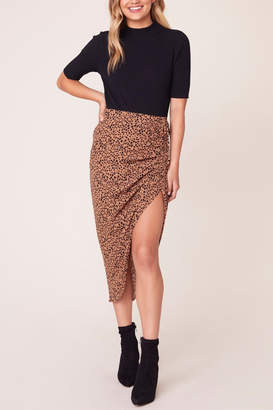 BB Dakota Ruched Awakening Midi Skirt