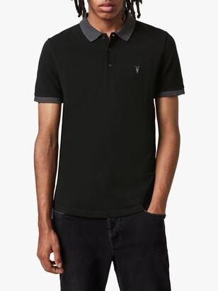 AllSaints Orlando Contrast Short Sleeve Polo Shirt
