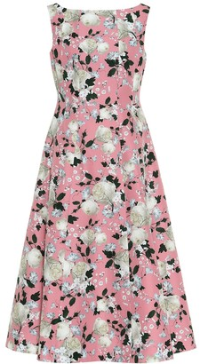 Erdem Kinsey floral cotton midi dress