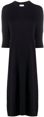 Barrie Crew Neck Cashmere Dress