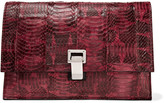 Proenza Schouler Small Lunch watersnake and leather clutch