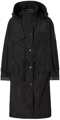 Burberry Detachable Hood Shape-memory Taffeta Parka